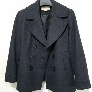 Michael Kors Wool Blend Peacoat Size L